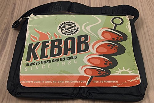 Borsa Tracolla Alimentare Ristorante Kebab Stampato