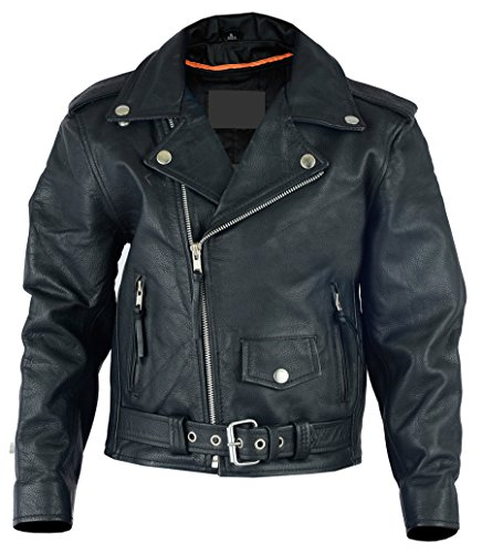 Sunrise Outlet Kids Leather Traditional Style Motorcycle Jacket - ()