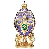 Design Toscano Inc Faberge-style Fleur-de-Lis Enameled Egg