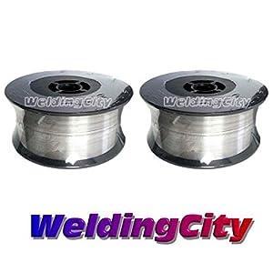WeldingCity 2 Rolls of ER316L Stainless Steel MIG Welding Wire 2-Lb Spool 0.023″ (0.6mm)