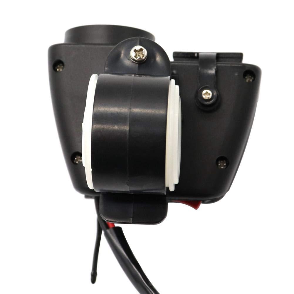 2.1A W Universal Motorrad Fahrrad Dual Output USB Schnellladeger/ät Steckdose Wasserdichte Steckdose Adapter Motorrad Ladeger/ät Steckdosen Digital Gelb LED Voltmeter Mit Stecker
