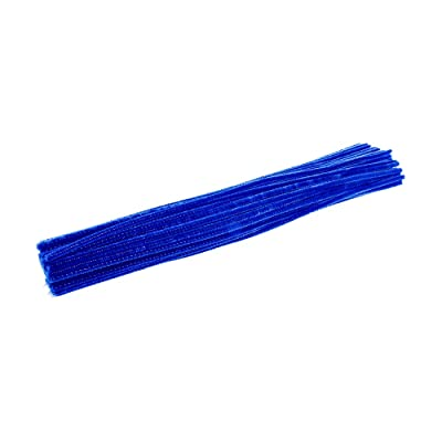 Colorations Blue Chenille Stem Pipe Cleaners, Pack of 100, Arts & Crafts, Decorating, STEM, Single Color, Activities for Kids, Crafting, Straw Cleaner, DIY (IPCBL): Industrial & Scientific