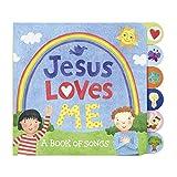 C.R. Gibson Tab-Side Jesus Loves Me Songs Board Book for Kids by Stephanie Peterson Jones