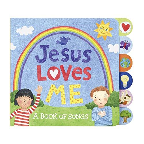 C.R. Gibson Tab-Side Jesus Loves Me Songs Board Book for Kids by Stephanie Peterson Jones ()