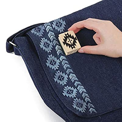 Style Me Up - DIY Girls Messenger Bag - Design Your Bag with Inks and Stamps - SMU-11302: Toys & Games