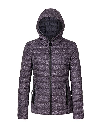 Bellivera Womens Puffer Winter Jacket for Spring and Fall,Padding Lightweight Quilted Coat with Hood and Zipper Pockets