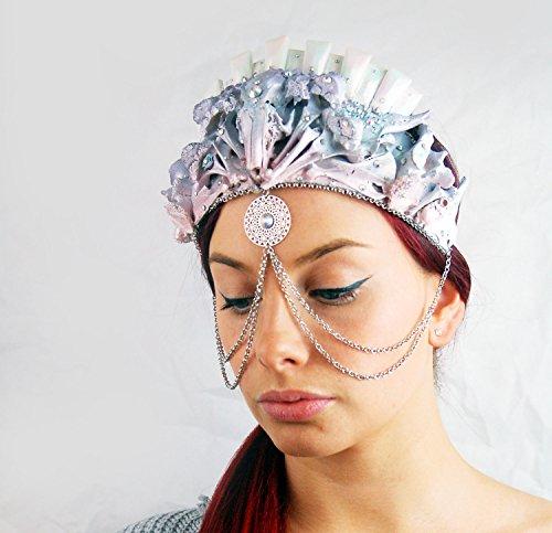 Real Bone Tiara - Pastel Pearl headpiece by Virginia the Wolf