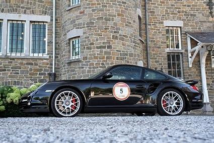 Porsche 911 993 Turbo Black Left Side HD Poster Super Car Jumbo 48 X 32 Inch