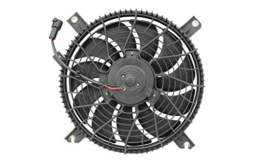 Tracker Condenser Cooling Fan - Tong Yang FAN-SZ61002A Replacement Condenser Cooling Fan Assembly 99-05' SZ Grand Vitara condenser fan assy 1.6/2.0L (denso)(FAN-SZ61002A)