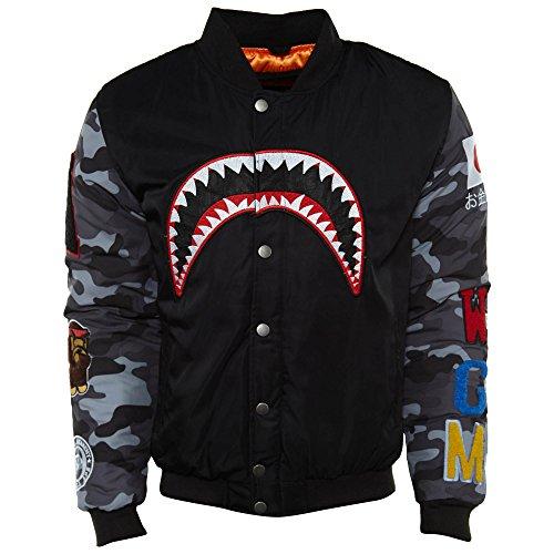- Flight Tigers Flying Jacket Mens Style: APE-Black Size: XL