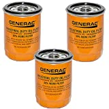 Generac 070185E High Capacity Extended Duty Oil Filters 90mm - Pack of 3