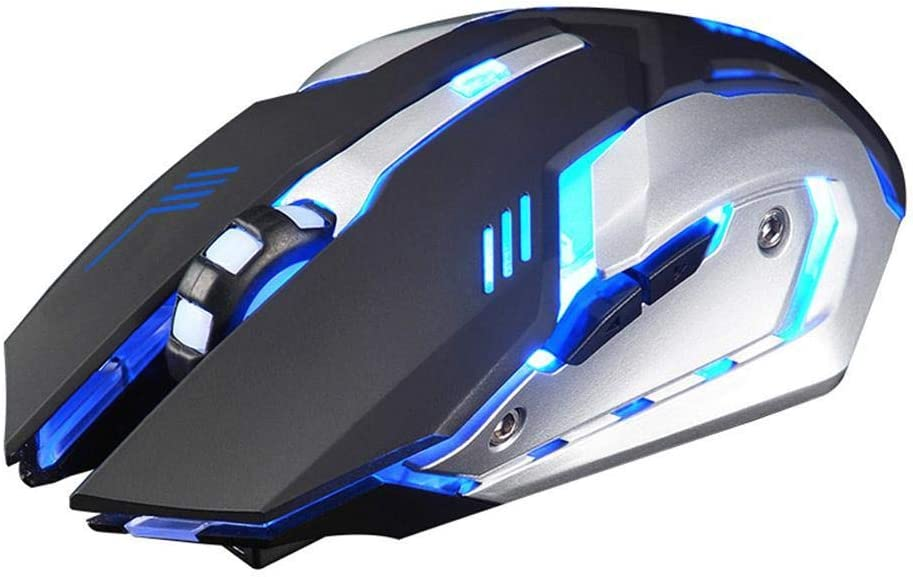 hevare X7 Rechargeable Mute Desktop Computer Notebook Lights Charge Game Wireless Mouse Mice