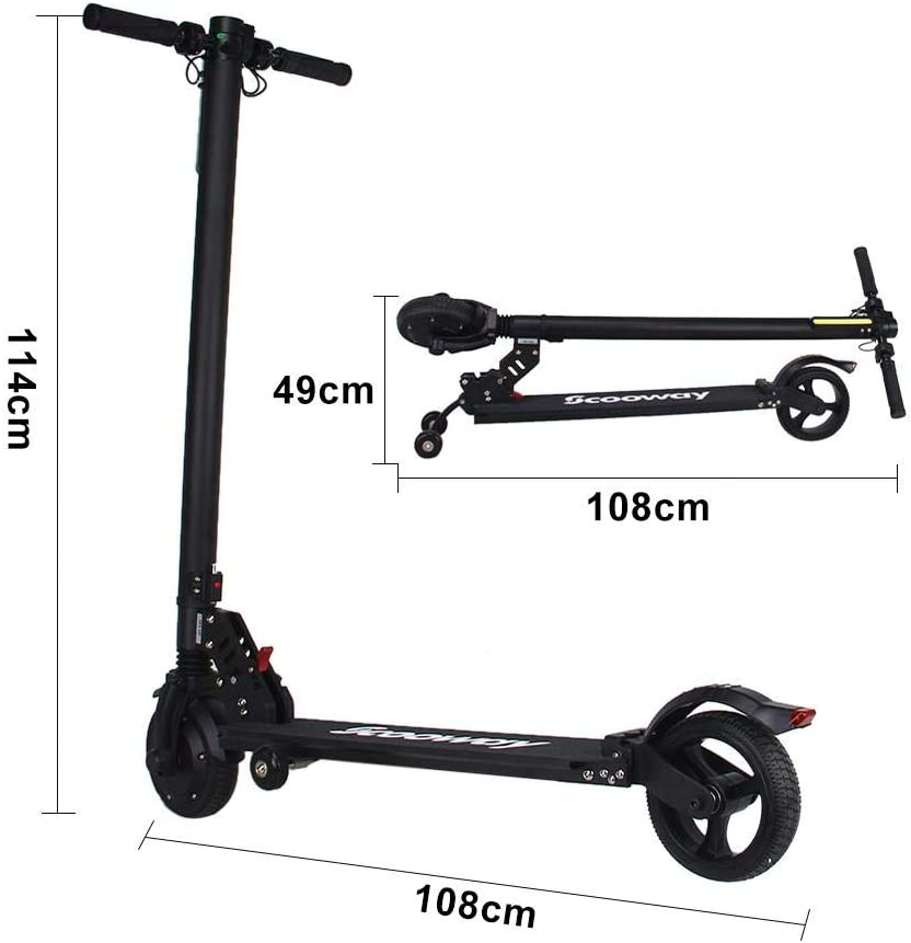 Chuanfeng Electric Scooter Adult 2-wheeled Scooter 250W 25KM//H Light Mini Lithium Battery Bicycle Folding Small Scooter 20-25KM 6.5 Inches Auxiliary Wheel Front Drive 120KG Maximum Load
