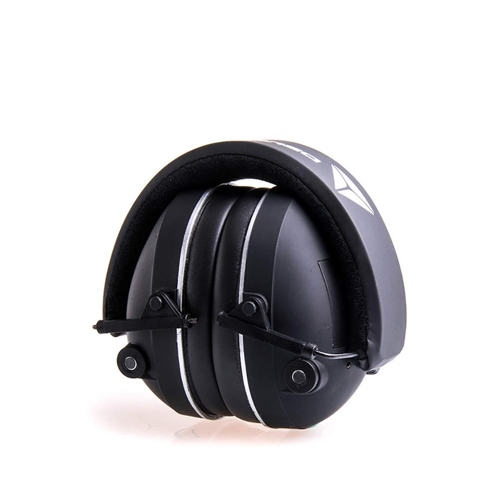 Ear Defenders/Hearing Soundproof Electronic Earmuffs Professional Sleep Sleep With Adjustable Noise Reduction Mute Learning Factory Adjustable Headband Ear Muffs ( Color : Black , Size : Free size ) by Canyixiu