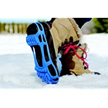 STABILicers Walk Stabilicers Ice Traction Cleat for Snow and Ice - Small, Blue - Lite Duty Serious Traction cleats for Boots and Shoe Ice Cleats by Stabilicers