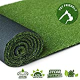 GL Artificial Grass Turf Lawn, 0.8inch Realistic Synthetic Grass Mat, Indoor Outdoor Garden Lawn Landscape for Pets,Fake Faux Grass Rug with Drainage Holes 8FT X8FT(64 Square FT)