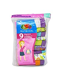 Fruit of the Loom Girls 9 Pack Hipsters Underwear