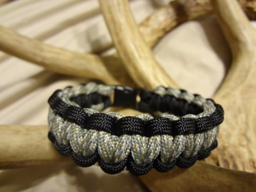 """Paracord Survival Bracelet Black Border with Your Choice of Center Color, Choose Your Size, 27 Colors to Choose From By Bostonred2010 (ACU DIGITAL CAMO, 7"""")"""