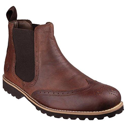 Cotswold Mens Abbeymead Lederen Chelsea Boots Bruin