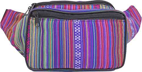 SoJourner Bags Boho, Hippy, Eco Woven, Cotten Fanny Pack