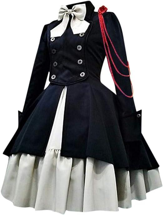 Sannysis damska sukienka koktajlowa w stylu vintage, gotycka, steampunk, na karnawał, imprezę, karnawał, imprezę, falbanki, punk, cosplay, kostium na karnawał, wieczÓr, sukienka koktajlowa: Odzie