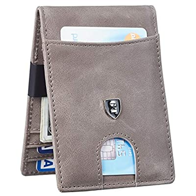 Gostwo Mens Bifold Wallet Money Clip RFID Blocking Travel Wallet Credit Card Holder