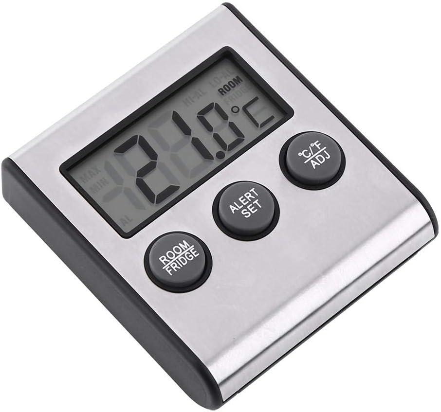 Temperatura del frigorifero Congelatore digitale Termometro da frigorifero LCD Frigorifero Congelatore da camera Termometro Walk-In Celle frigorifere Gancio e supporto per cucina domestica