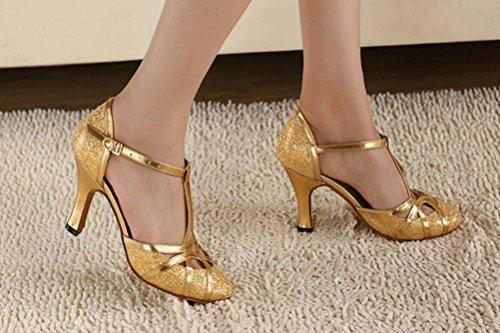 4 Jj 8 personnalisés doré Latin danse Chaussures 8 Jj de en PU T 1 ChaCha  e938da 7f66d2adedf2