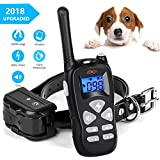 YISENCE Shock Collar for Dogs, Rainproof and Rechargeable Dog Training Collar, Dog Shock Collar with Remote 1600ft Range, Beep, 100 Levels Vibrate and Shock Collar for Large Dogs and Small Dogs