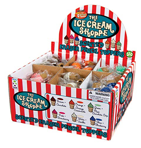 Raymond Geddes Ice Cream Shopper Scented Eraser Pencil Toppers, Set of 120 (69287) by Raymond Geddes (Image #3)