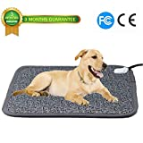 """Ubei Pet Electric Heating Pad for Dog and Cat Adjustable Waterproof Anti-bite Steel Cord Dog Large Warm Bed Mat Heated Suitable for Pets Big Deds Pets Blankets and Kennel (28.3""""x18.9"""")"""