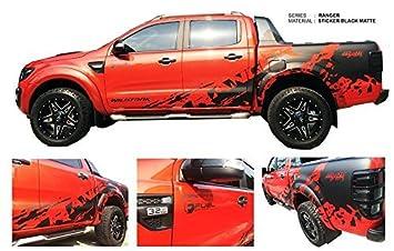 Matte Black Mud Design Color Sticker Cover Car Decal Vinyl