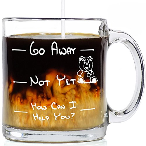 Funny Coffee Mugs Go Away