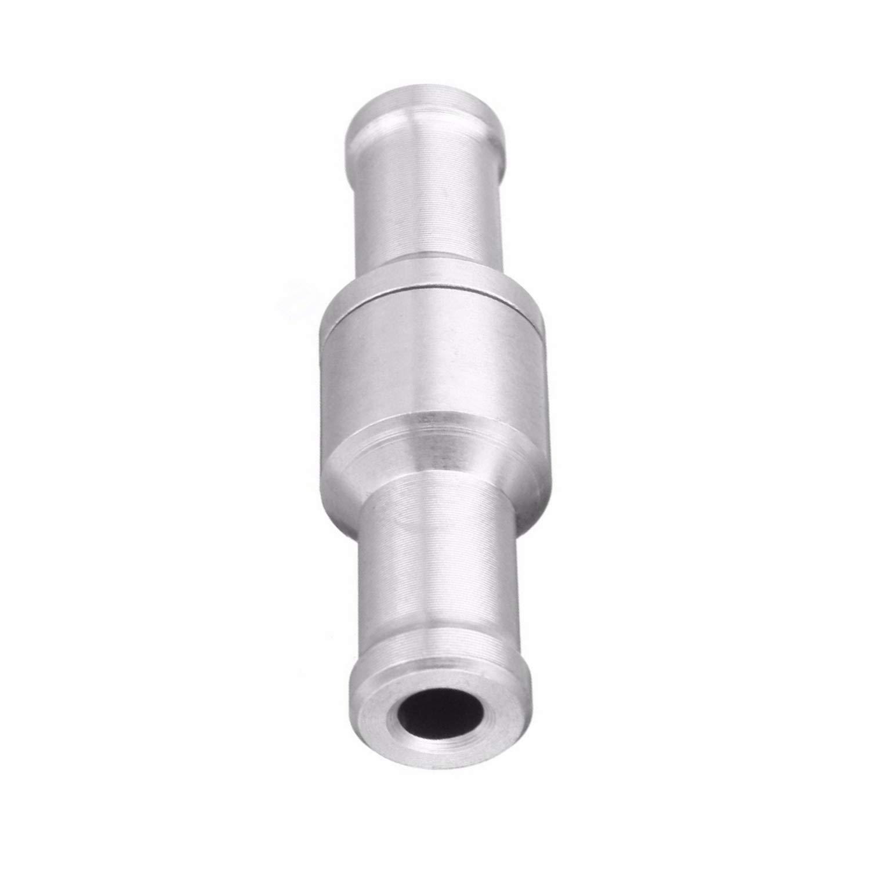 unidireccional Alta Resistencia Combustible//Agua//Gas//Aire//vac/ío Aluminio-Plata FairytaleMM SI-AT11154 10MM V/álvula de retenci/ón antirretorno unidireccional
