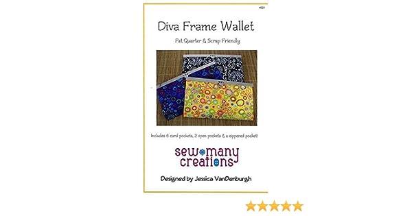 Amazon.com: Diva Frame Wallet Pattern: Arts, Crafts & Sewing