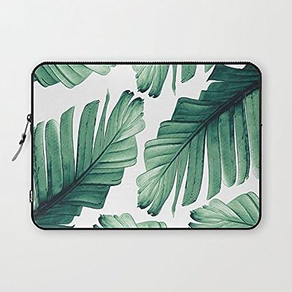 b8effb9ba81d Amazon.com: Tropical Banana Leaves Laptop Sleeve Modern Laptop ...