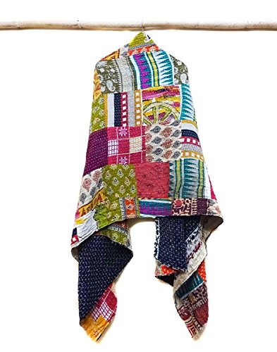 Cotton Kantha Scarf Head Wrap Stole Dupatta Collar Neckerchief Scarves patchwork