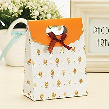 Amazon.com: 100 pcs bolsas de regalo Flor Bolsa De Regalo ...