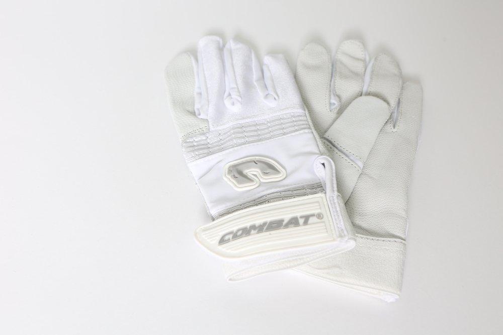 Combat Derby Life g3バッティング手袋 B074XKDKV9 Medium ホワイト/ホワイト ホワイト/ホワイト Medium
