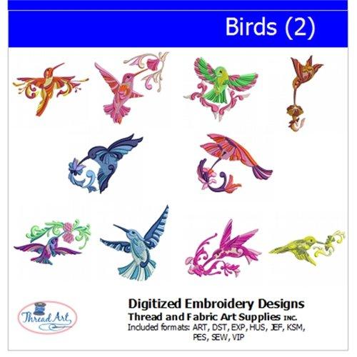 Threadart Machine Embroidery Designs - Birds(2) - USB Stick