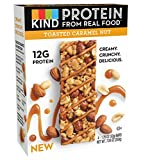 KIND Protein Bars, Toasted Caramel Nut, Gluten Free, 12g Protein, 1.76oz, 4 Count (6 Pack)