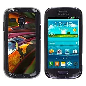Be Good Phone Accessory // Dura Cáscara cubierta Protectora Caso Carcasa Funda de Protección para Samsung Galaxy S3 MINI NOT REGULAR! I8190 I8190N // Leaves Nature Jungle Scene