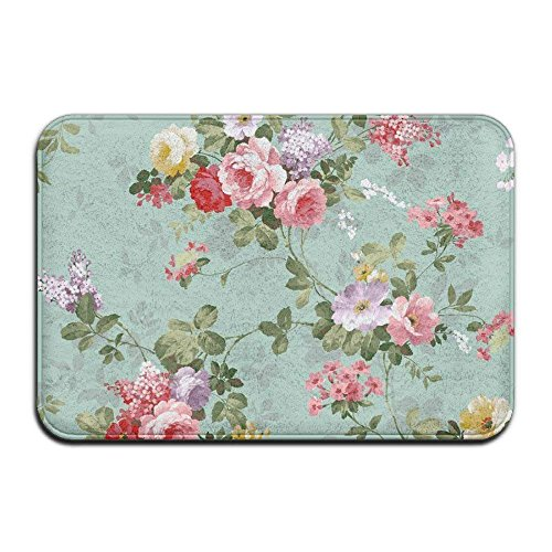 - Hopes's Green Pink White Floral Nice Personalized Door Mats Welcome Mat Carpet Shampooer Carpet Sweeper Carpet Pad Doormat Bedroom (L23.6