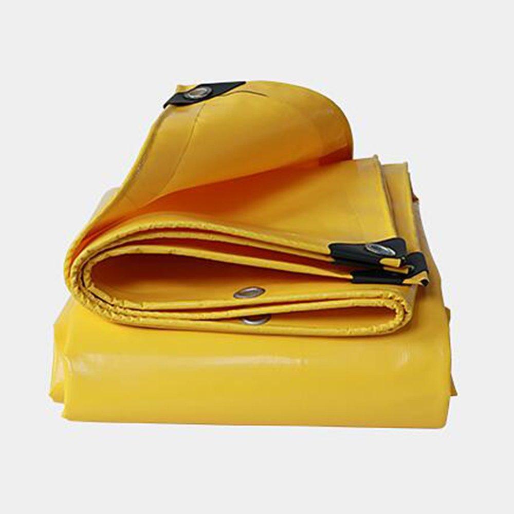 ターポリン ターポリン耐水重荷 - 黄色タールシート - プレミアム品質カバータパリン0.05mm -500g/m²22サイズ (色 : イエロー いえろ゜, サイズ さいず : 6x 7m) B07FQ3X39C 6x 7m|イエロー いえろ゜ イエロー いえろ゜ 6x 7m