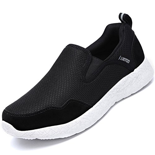 Casual Running Breathable Elderly Shoes for Black Mesh Shoe Sneakers Slip Walking Camel on Women Loafers Men's Crown Lightweight Hq7Wv6