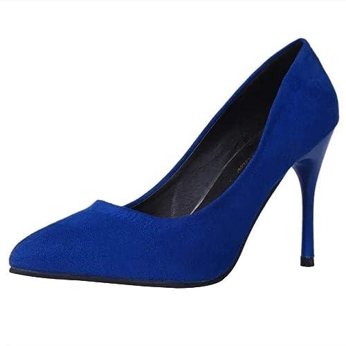 Zapatos de tacón Alto Sandalias de Vestir sólido para Mujer, QinMM Elegantes Zapatos de Boda de Verano Fiesta Mocasines: Amazon.es: Zapatos y complementos