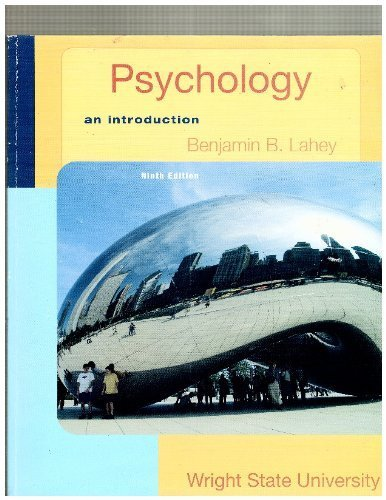 Psychology an Introduction 10th edition by Benjamin B. Lahey (2009) Paperback