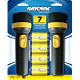 Rayovac Value Bright 9-Lumen 2D Economy Flashlight Twin Pack with Batteries (EVB2D2D-BD9B)