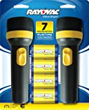 RAYOVAC Value Bright 9-Lumen 2D Economy Flashlight Twin Pack with Batteries, EVB2D2D-BD9D