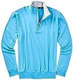 Bobby Jones Mens Liquid Cotton 1/4 Zip Pullover, Arctic Blue, X-Large